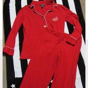 Ralph Lauren women's pajama set classic red Small